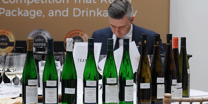 Judging at the London Wine Competition
