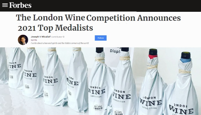 The London Wine Competition Announces 2021 Top Medalists