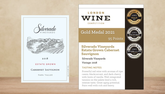 Silverado Vineyards Estate Grown Cabernet Sauvignon