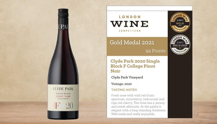 Clyde Park 2020 Single Block F College Pinot Noir