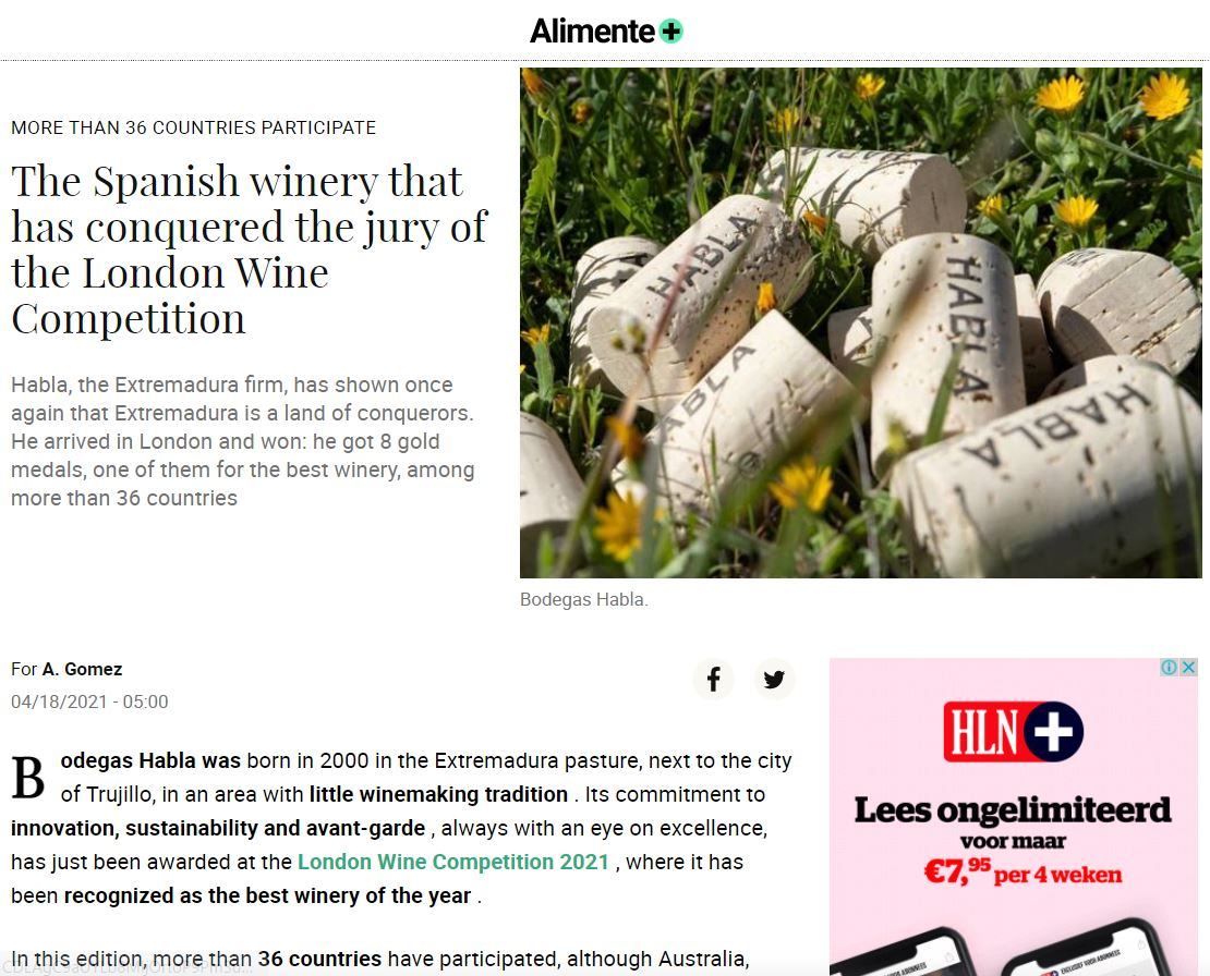 The Spanish winery that has conquered the jury of the London Wine Competition
