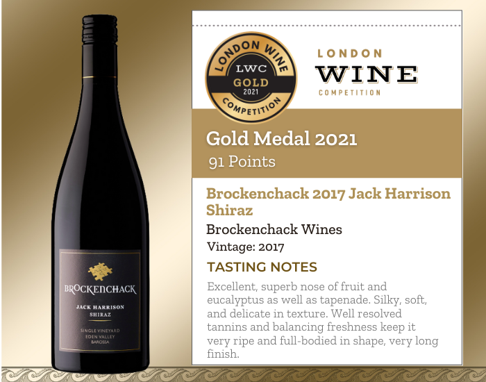 Brockenchack 2017 Jack Harrison Shiraz
