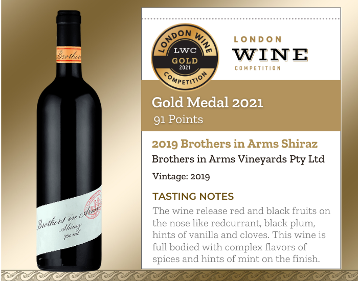 2019 Brothers in Arms Shiraz