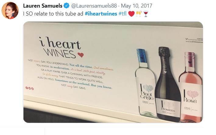 Twitter post of Lauren Samuels