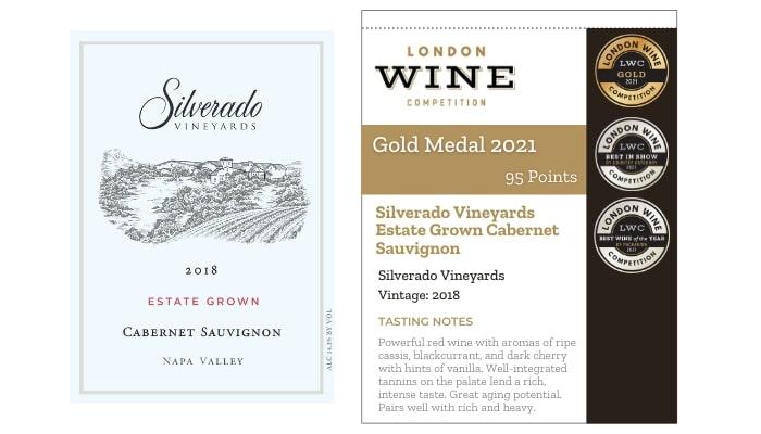 Silverado Vineyards Estate Grown Cabernet Sauvignon by Silverado Vineyards