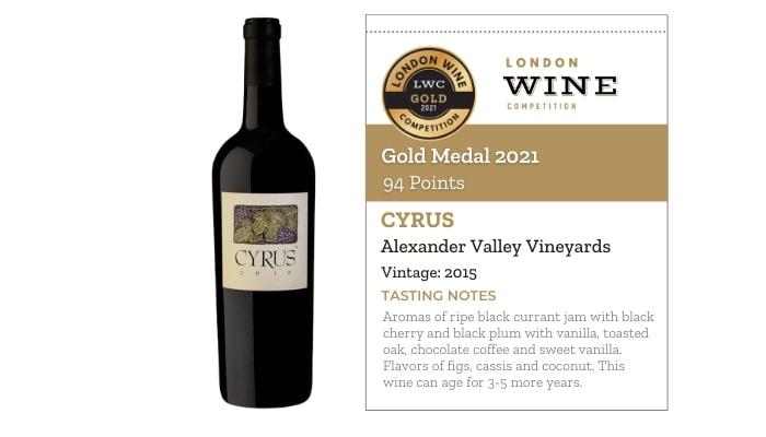 CYRUS by Alexander Valley Vineyards