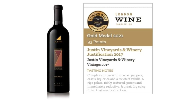 Justin Vineyards & Winery Justification 2017 by Justin Vineyards & Winery
