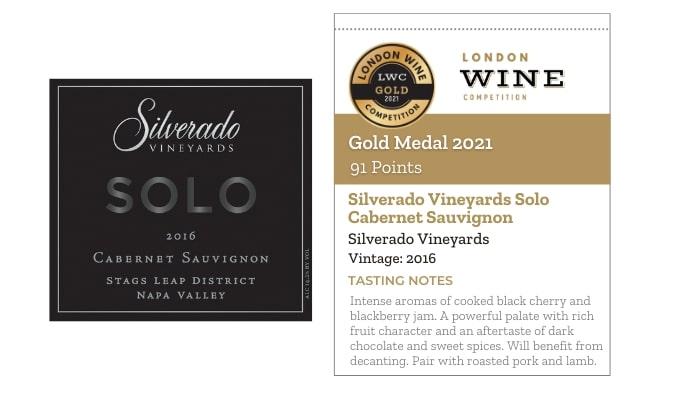 Silverado Vineyards Solo Cabernet Sauvignon by Silverado Vineyards