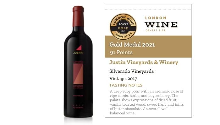 Justin Vineyards & Winery Isosceles 2017 by Justin Vineyards & Winery