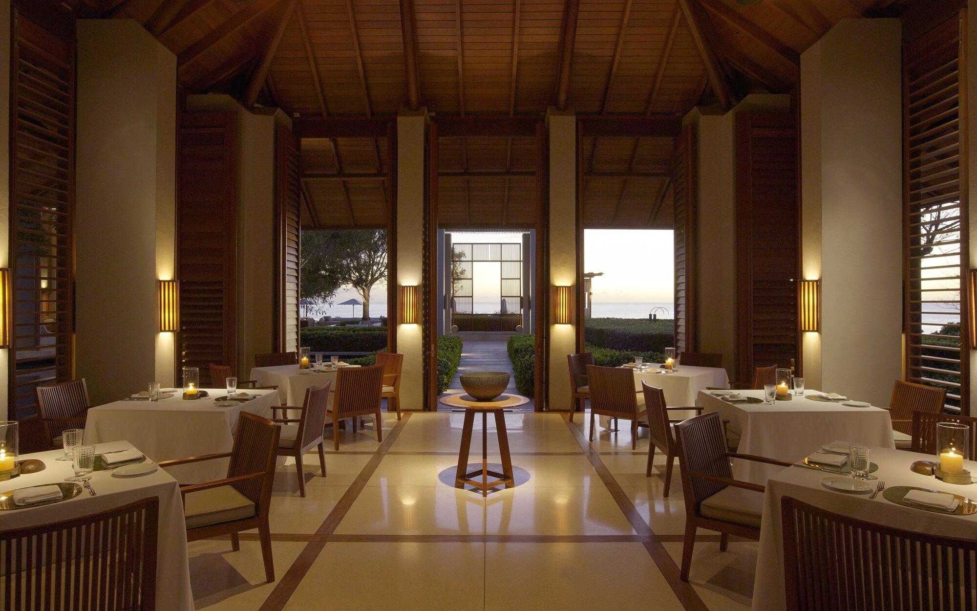 Amanyara restaurant inside view