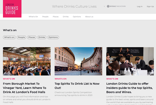 London Drinks Guide